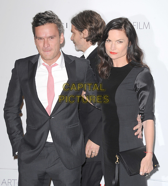 Balthazar Getty and Rosetta Getty.The Inaugural Art and Film Gala held at LACMA in Los Angeles, California, USA..November 5th, 2011   .half length black suit pink tie white shirt dress married husband wife grey gray.CAP/RKE/DVS.©DVS/RockinExposures/Capital Pictures.