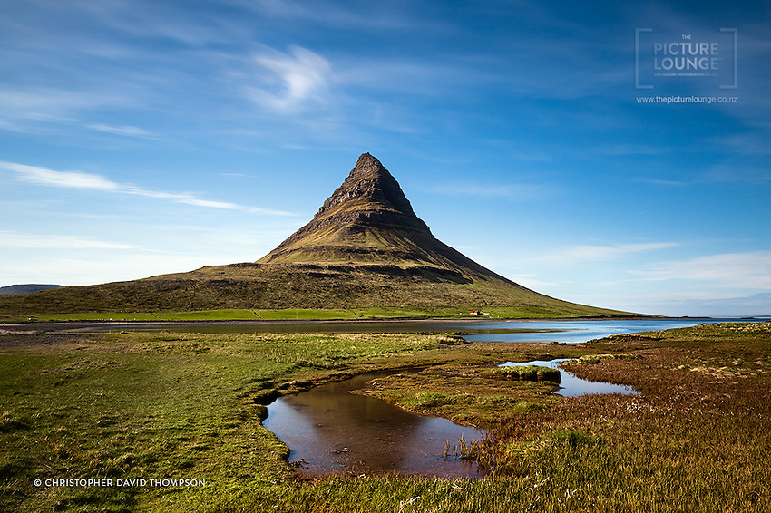 Kirkjufell (Church Mountain) is another iconic Icelandic landscape, the conical mountain striking a dominating pose on the seashore...