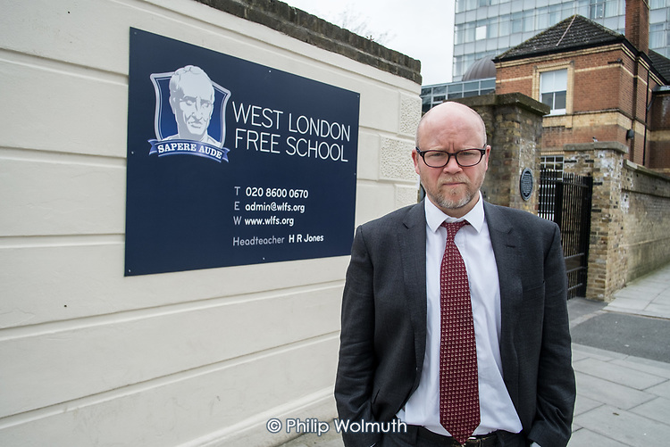 Toby Young, co-founder of the West London Free School, Hammersmith & Fulham.