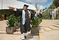 Enoch Sowah. The class of 2015 graduates during Occidental College's 133rd Commencement, the Remsen Bird Hillside Theater, on Sunday, May 17, 2015.<br />