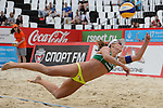 30.05.2015, Moskau, Vodny Stadion<br /> Moskau Grand Slam, Main Draw / Halbfinale<br /> <br /> Abwehr Larissa Franca (#1 BRA)<br /> <br />   Foto © nordphoto / Kurth