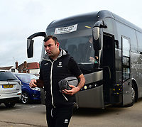 Lincoln City's Matt Rhead arriving at the ground<br /> <br /> Photographer Andrew Vaughan/CameraSport<br /> <br /> The EFL Sky Bet League Two - Cambridge United v Lincoln City - Saturday 29th December 2018  - Abbey Stadium - Cambridge<br /> <br /> World Copyright © 2018 CameraSport. All rights reserved. 43 Linden Ave. Countesthorpe. Leicester. England. LE8 5PG - Tel: +44 (0) 116 277 4147 - admin@camerasport.com - www.camerasport.com