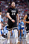 GLENDALE, AZ - APRIL 03: Przemek Karnowski #24 of the Gonzaga Bulldogs walks across court after a play during the 2017 NCAA Men's Final Four National Championship game against the North Carolina Tar Heels at University of Phoenix Stadium on April 3, 2017 in Glendale, Arizona.  (Photo by Brett Wilhelm/NCAA Photos via Getty Images)