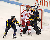 Jared Kolquist (Merrimack - 15), Jordan Greenway (BU - 18), Collin Delia (Merrimack - 1) - The visiting Merrimack College Warriors defeated the Boston University Terriers 4-1 to complete a regular season sweep on Friday, January 27, 2017, at Agganis Arena in Boston, Massachusetts.The visiting Merrimack College Warriors defeated the Boston University Terriers 4-1 to complete a regular season sweep on Friday, January 27, 2017, at Agganis Arena in Boston, Massachusetts.