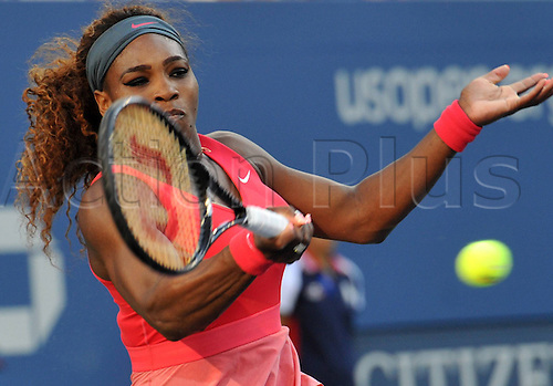 08.09.2013 New York, America. Serena Williams USA during the US Open Womens final against Victoria Azarenka at Flushing Meadows.