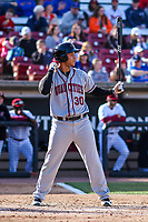 Quad Cities River Bandits infielder Randy Cesar (30) at the plate during a Midwest League game against the Wisconsin Timber Rattlers on April 8, 2017 at Fox Cities Stadium in Appleton, Wisconsin.  Wisconsin defeated Quad Cities 3-2. (Brad Krause/Four Seam Images)