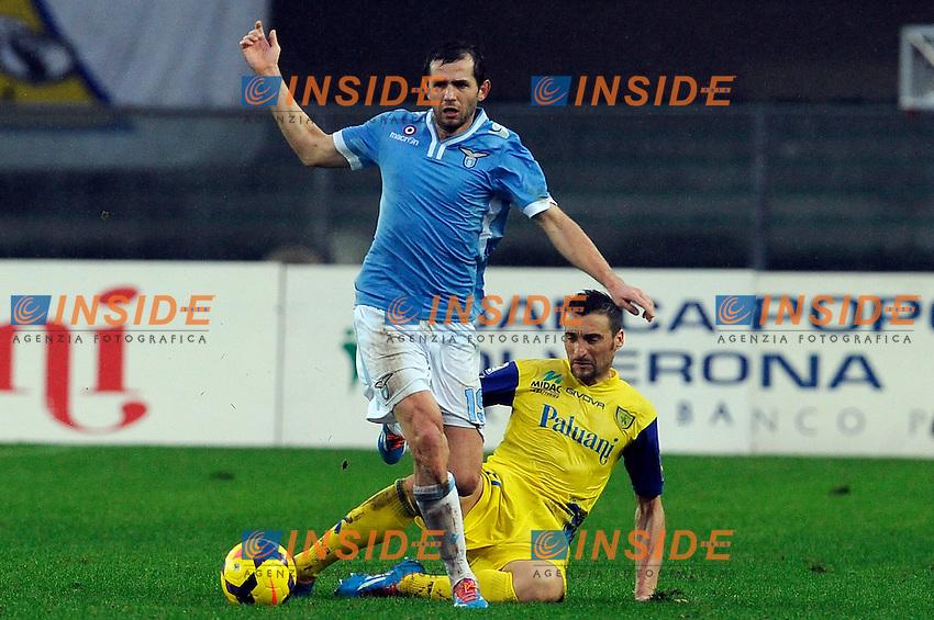 Send Lulic Lazio <br /> Verona 02-02-2014 Stadio Bentegodi. Football Calcio Serie A 2013/2014 Chievo Verona - Lazio foto Insidefoto
