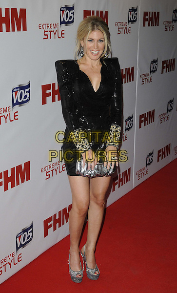 Hofit Golan.Arrivals at the FHM 100 Sexiest Women in the World 2012 Party held at the Proud Cabaret, London, England..May 1st, 2012.full length dress black shoulder pads gold cuffs clutch bag silver clutch bag  .CAP/CAN.©Can Nguyen/Capital Pictures.