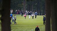 View through the 4th fairway as Shane Lowry (IRL) heads off during the Final Round of the British Masters 2015 supported by SkySports played on the Marquess Course at Woburn Golf Club, Little Brickhill, Milton Keynes, England.  11/10/2015. Picture: Golffile | David Lloyd<br /> <br /> All photos usage must carry mandatory copyright credit (&copy; Golffile | David Lloyd)