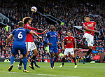 Jesse Lingard of Manchester United directs a header towards goal during the premier league match at the Old Trafford Stadium, Manchester. Picture date 17th September 2017. Picture credit should read: Simon Bellis/Sportimage