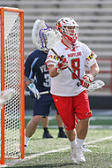 College Park, MD - March 18, 2017: Maryland Terrapins Dan Morris (8) makes a save during game between Villanova and Maryland at  Capital One Field at Maryland Stadium in College Park, MD.  (Photo by Elliott Brown/Media Images International)