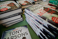 Tuesday 27 May 2014, Hay on Wye, UK<br /> Pictured: Cpoies of tony Parsons' Book ' The Murder Bag' <br /> Re: The Hay Festival, Hay on Wye, Powys, Wales UK.