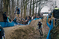 PIDCOCK Tom (GBR/TP Racing) getting some serious air coming down the dirt jump section<br /> <br /> GP Sven Nys (BEL) 2019<br /> DVV Trofee<br /> &copy;kramon