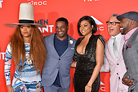 LOS ANGELES, CA. January 28, 2019: Erykah Badu, James Lopez, Taraji P. Henson, Alan Shankman &amp; Will Packer at the US premiere of &quot;What Men Want!&quot; at the Regency Village Theatre, Westwood.<br /> Picture: Paul Smith/Featureflash