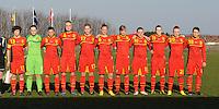 U19 Belgian Red Flames - Austria :<br /> <br /> Belgi&euml; tijdens de hymne<br /> <br /> foto Dirk Vuylsteke / Nikonpro.be