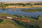 Freight train along Yellowstone River