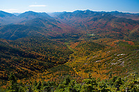 View from the summit of Giant Mountain in the high peaks region of the Adirondack Forest Preserve in New York State