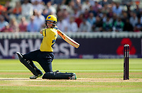 Birmingham Bears' Ed Pollock drives<br /> <br /> Photographer Andrew Kearns/CameraSport<br /> <br /> NatWest T20 Blast Semi-Final - Birmingham Bears v Glamorgan - Saturday 2nd September 2017 - Edgbaston, Birmingham<br /> <br /> World Copyright &copy; 2017 CameraSport. All rights reserved. 43 Linden Ave. Countesthorpe. Leicester. England. LE8 5PG - Tel: +44 (0) 116 277 4147 - admin@camerasport.com - www.camerasport.com