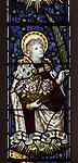 Mary Anne Garrett Memorial stained glass window  female martyrs 1897, Church of Saint Margaret, Leiston, Suffolk, England, UK saint Dorothea by C.E. Kempe ( 1837-1907)