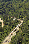 Israel, Jerusalem mountains, the train in Nahal Sorek