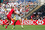 United States vs Wales during the HSBC Sevens Wold Series match as part of the Cathay Pacific / HSBC Hong Kong Sevens at the Hong Kong Stadium on 28 March 2015 in Hong Kong, China. Photo by Juan Manuel Serrano / Power Sport Images