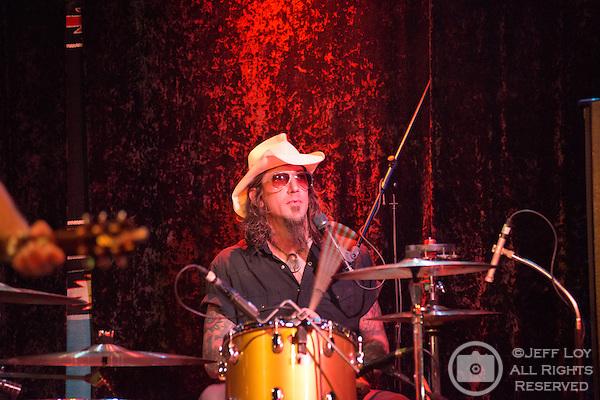 Chris Von Streicher of the Supersuckers performs at Dan's Silver Leaf in Denton, Texas.