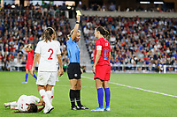 Saint Paul, MN - Tuesday September 03, 2019 : Carli Lloyd #10 during a 2019 Victory Tour match between Portugal and the United States at Allianz Field, on September 03, 2019 in Saint Paul, Minnesota.