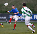 David Brownlie clears the ball