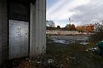 Wrexham 2 Ebbsfleet United 0, 18/11/2017. The Racecourse Ground, National League. Graffiti on an adjoining building to The Racecourse Ground says 'Love is all you need'. Photo by Paul Thompson.