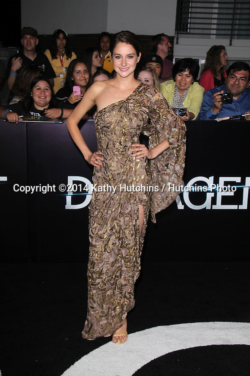 "LOS ANGELES - MAR 18:  Shailene Woodley at the ""Divergent"" Los Angeles Premiere at Bruin Theater on March 18, 2014 in Westwood, CA"