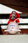 18 November 2005: Manami Hino pilots Japan 1 to a 22nd place finish at the 2005 FIBT AIT World Cup Women's Bobsleigh Tour at the Verizon Sports Complex, in Lake Placid, NY. Mandatory Photo Credit: Ed Wolfstein.