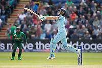 Jos Buttler (England) airborne for a short delivery during England vs Bangladesh, ICC World Cup Cricket at Sophia Gardens Cardiff on 8th June 2019