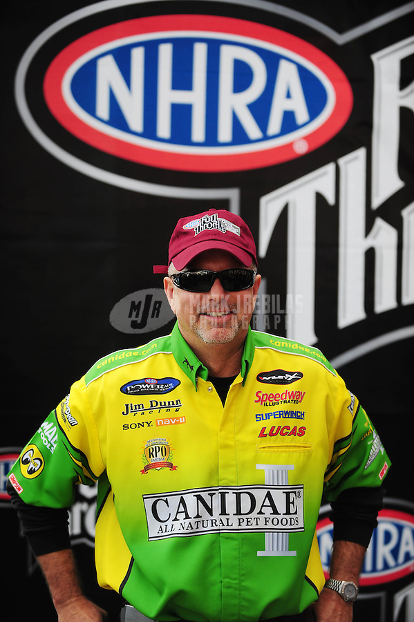 Nov. 2, 2008; Las Vegas, NV, USA: NHRA funny car driver Tony Bartone during the Las Vegas Nationals at The Strip in Las Vegas. Mandatory Credit: Mark J. Rebilas-