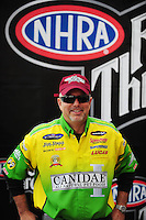 Nov. 2, 2008; Las Vegas, NV, USA: NHRA funny car driver Tony Bartone during the Las Vegas Nationals at The Strip in Las Vegas. Mandatory Credit: Mark J. Rebilas-