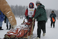 Jr. Iditarod Willow Lake  start / finish Jessica Klejka