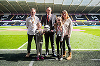 Sunday April 02 2017 <br /> Pictured:   Match Ball sponsors <br /> Re: Premier League match between Swansea City and Middlesbrough at The Liberty Stadium, Swansea, Wales, UK. SUnday 02 April 2017