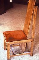 Frank Lloyd Wright: Dana House, Springfield  IL. , 1902-1904..  Chair detail--designed by FLW. (Photo Feb. 1988)