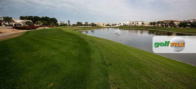 6th tee at The Address Montgomerie Golf Club, Dubai, United Arab Emirates.  27/01/2016. Picture: Golffile | David Lloyd<br /> <br /> All photos usage must carry mandatory copyright credit (&copy; Golffile | David Lloyd)