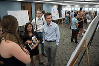 "Peter Laminette '17 presents ""The Link Between FASD and Epilepsy""<br /> Occidental College's Undergraduate Research Center hosts their annual Summer Research Conference on Aug. 4, 2016. Student researchers presented their work as either oral or poster presentations at the final conference. The program lasts 10 weeks and involves independent research in all departments.<br /> (Photo by Marc Campos, Occidental College Photographer)"