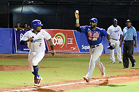 MONTERIA - COLOMBIA, 26-11-2019: Vaqueros de Montería y Caimanes de Barranquilla en el juego 4 de la serie 4 de la Liga Profesional de Béisbol Colombiano temporada 2019-2020 jugado en el estadio estadio Dieciocho de Junio de la ciudad de Montería. Victoria para Vaqueros por marcador de 6-4. / Vaqueros de Monteria and Caimanes de Barranquilla in match 4 series 4 as part Colombian Baseball Professional League season 2019-2020 played at Baseball Stadium on June 18 in Monteria city. Victory to Vaqueros by score of 6-4, Photo: VizzorImage / Andres Felipe Lopez / Cont