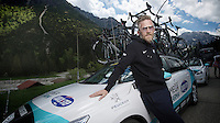 2013 Giro d'Italia.stage 11.Tarvisio - Vajont: 182km..OPQS DS Brian Holm..
