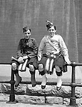 Toronto Ontario:  Two young members of the 48th Highlanders after one of the parades celebrating the 100th anniversary of the Battle of Lundy's Lane - 1914