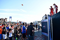 IMSA WeatherTech SportsCar Championship<br /> AMERICA'S TIRE 250<br /> Mazda Raceway Laguna Seca<br /> Monterey, CA USA<br /> Saturday 24 September 2017<br /> Podium Crowd<br /> World Copyright: Richard Dole<br /> LAT Images<br /> ref: Digital Image RD_LS_17_310