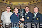 In the Bunker.-------------.Enjoying a jar in Stokers Lodge,bar/restaurant,Clounalour,Tralee last Saturday night at the prize giving of the Old Reserves golf society Presidents prize dayout at Dooks golf course won by Pat Leahy..