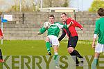 St Brendan's Park's Greg Healy and Castleisland's Stan Devane.