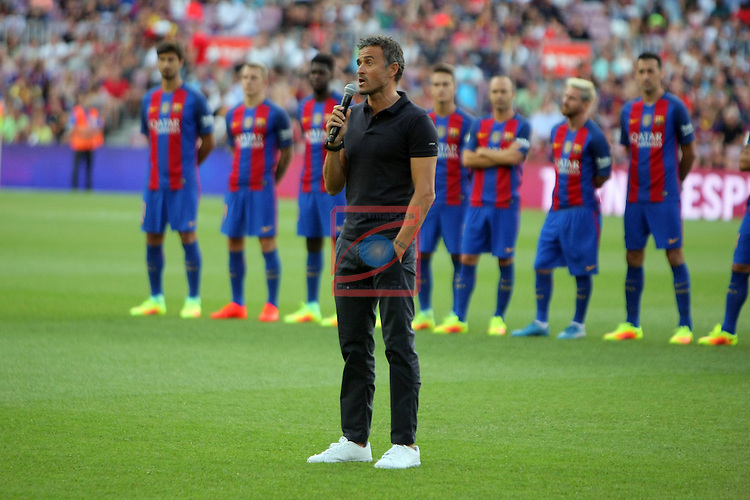 League Santander 2016/2017.<br /> 51e Trofeu Joan Gamper.<br /> FC Barcelona vs UC Sampdoria: 3-2.<br /> Luis Enrique.