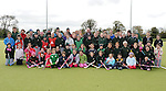 Ged Nash TD pictured with members of the Boyne Hockey Club. Photo: Colin Bell/pressphotos.ie