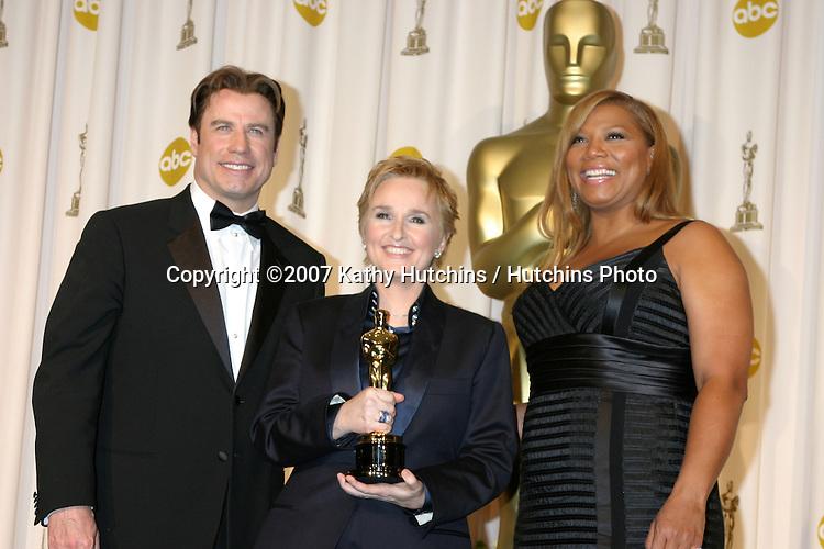 John Travolta, Melissa Ethridge, Queen Latifah.79th Annual Academy Awards.Kodak Theater .Hollywood & Highland.Hollywood, CA.February 25, 2007.©2007 Kathy Hutchins / Hutchins Photo....