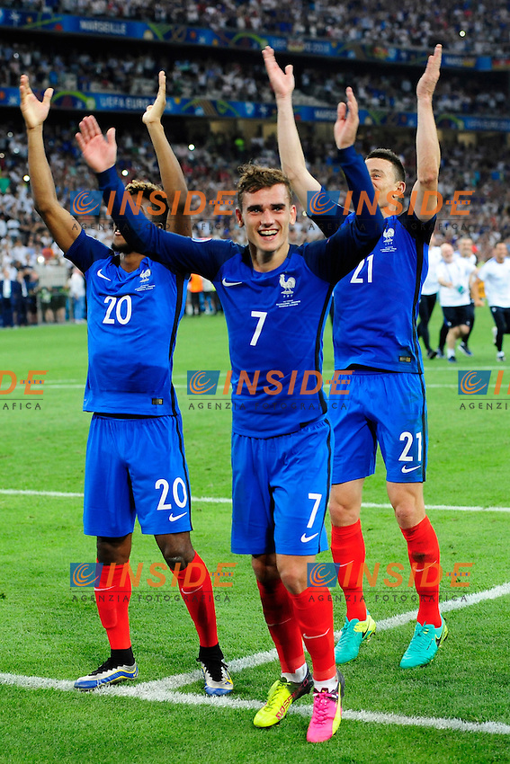 Esultanza Francia fine partita Celebration France and of match Antoine Griezmann (France)<br /> Marseilles 07-07-2016 Stade Velodrome Football Euro2016 Germany - France / Germania - Francia Semi-finals / Semifinali <br /> Foto   Franck Pennant Panoramic / Insidefoto