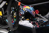 14th April 2018, Circuit de Barcelona-Catalunya, Barcelona, Spain; FIA World Rallycross Championship; Sebastein Loeb 9 helmet inside the car at Starting Grid